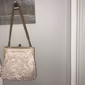 Handbags - Small white bag with gold chain